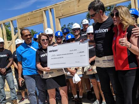 Verizon: Verizon commits $1 million to support Habitat for Humanity's Hurricane Michael recovery