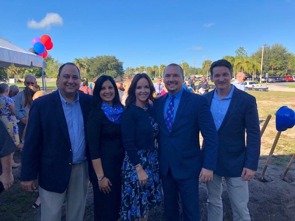 Rep. Ray Rodrigues, Sen. Lizbeth Benacquisto and Rep. Dane Eagle were on hand to support Family Initiative leaders Anjali Van Drie and David Brown at the groundbreaking.