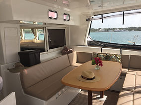 Catatonic Dining Area Seating Private Yacht Charter Yacht Catatonic 500