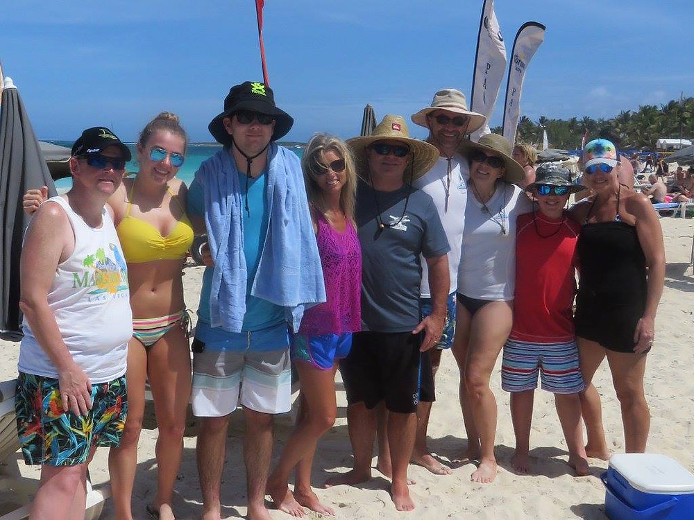 The Gang at Orient Bay Beach