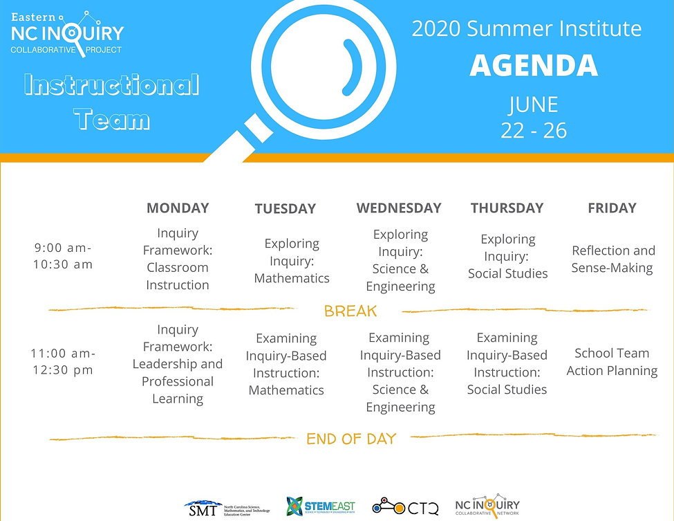 ENCICP Summer Institute_Agenda_Instructi