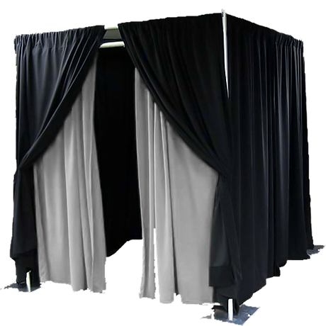 Enclosed Photo Booth Pipe and Drape Design