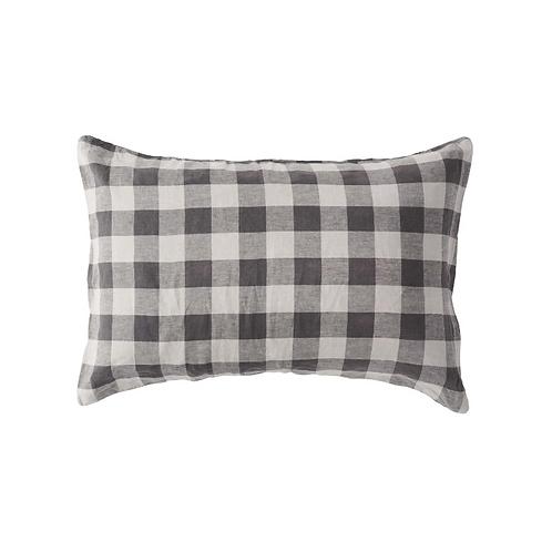 Licorice Gingham Pillowcase set
