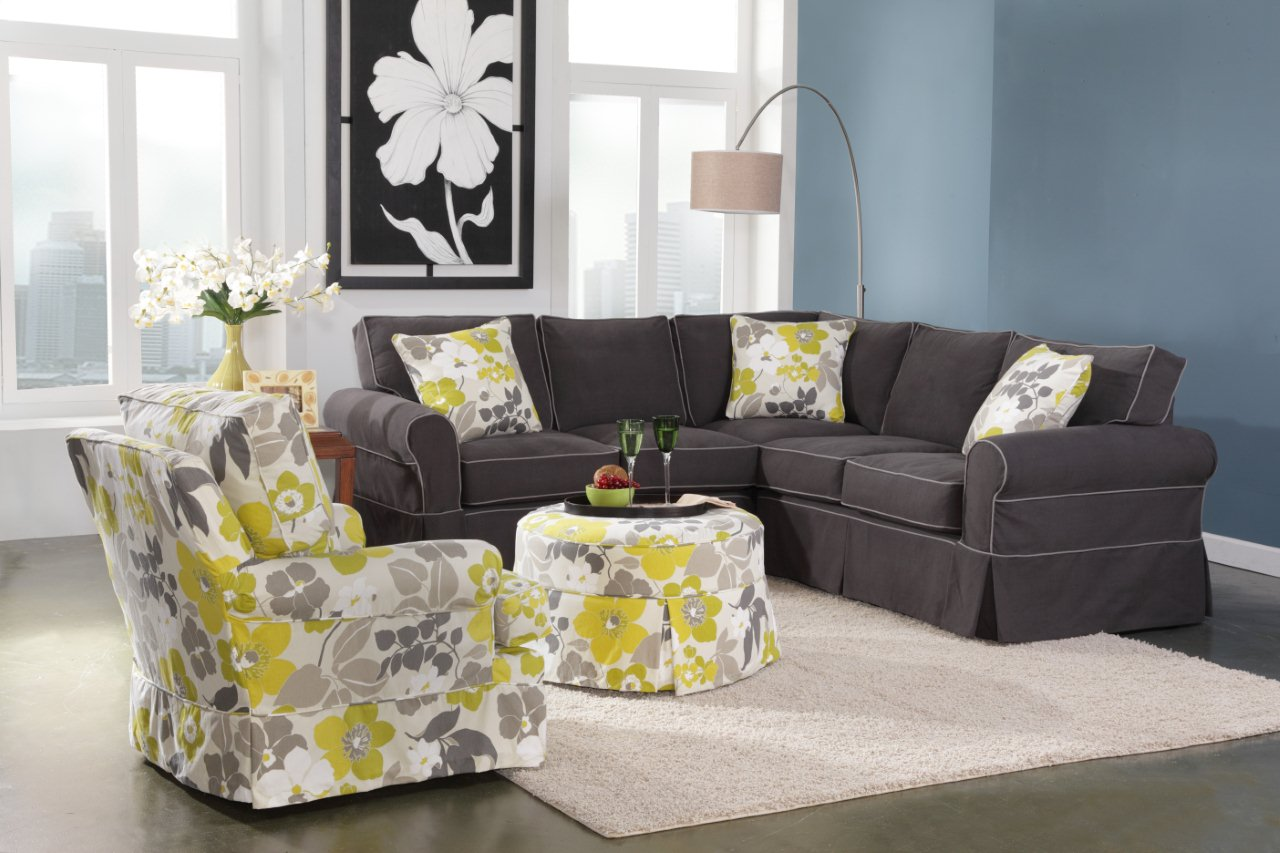 Alexandria 725 Sectional Montague Charcoal