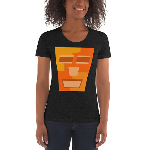 Orange Tripod Women's Crew Neck T-shirt