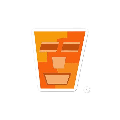 Orange Tripod Bubble-free stickers