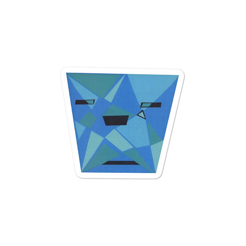 Blue Shades Bubble-free stickers