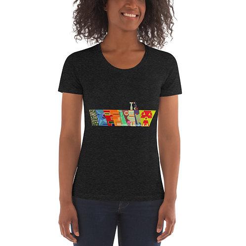 line of faces Women's Crew Neck T-shirt