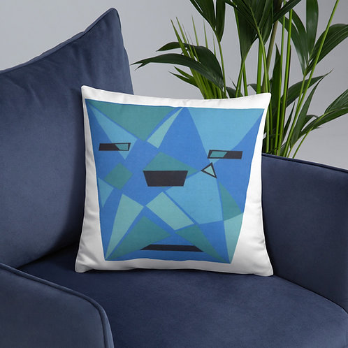 Blue Shades Basic Pillow