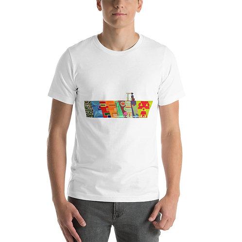 line of faces Short-Sleeve Unisex T-Shirt