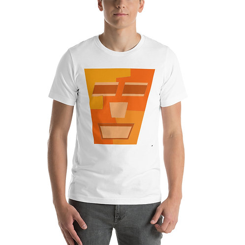 Orange Tripod Short-Sleeve Unisex T-Shirt