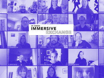 Pleased to be selected as a Creative Lead for the 'UK-Canada Immersive Exchange'!