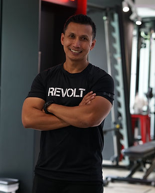 revolt gym singapore trainer salam