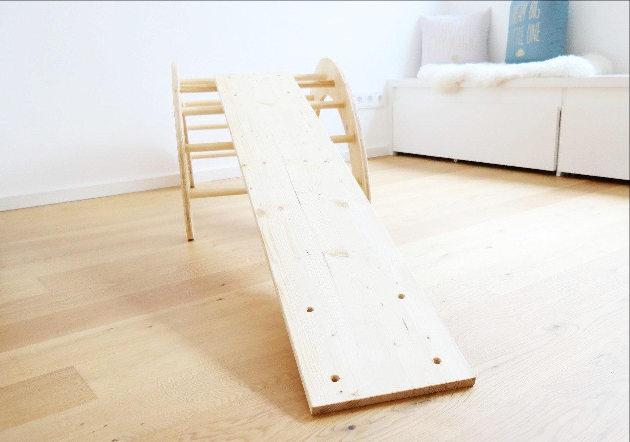 Kletterbogen Emmi Pikler : Set: kletterbogen & rutsche schaukelbrett