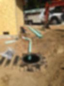 Graviy septic intallation
