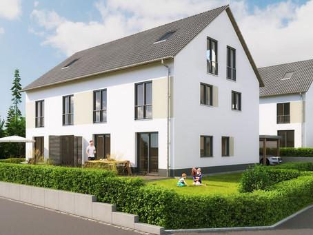 EcoLoft startet mit dem Verkauf der 26 Doppelhaushälften in Weisendorf nahe Erlangen/Herzogenaurach