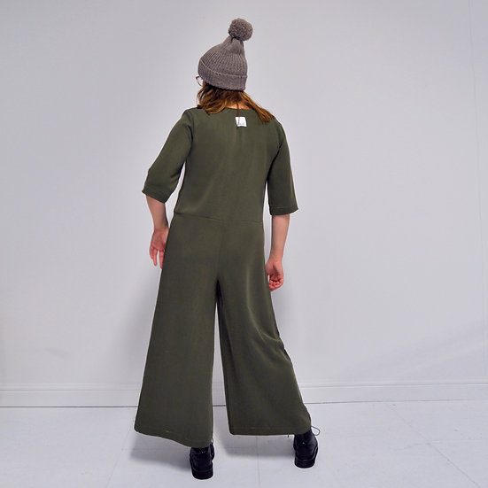 Wide Leg Overalls - Fern (Ready to Dispatch)