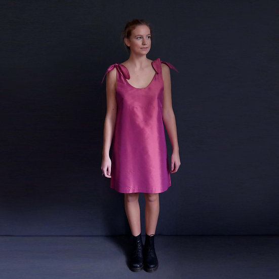 Silk Bunny Dress - Sorbet (Ready to Dispatch)