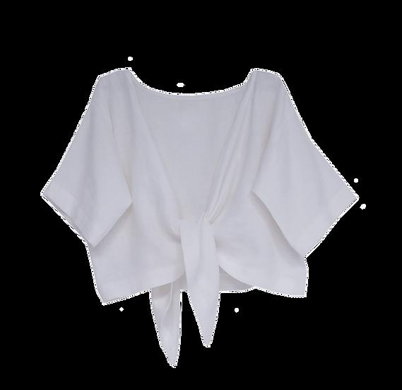 The Tie Top - White