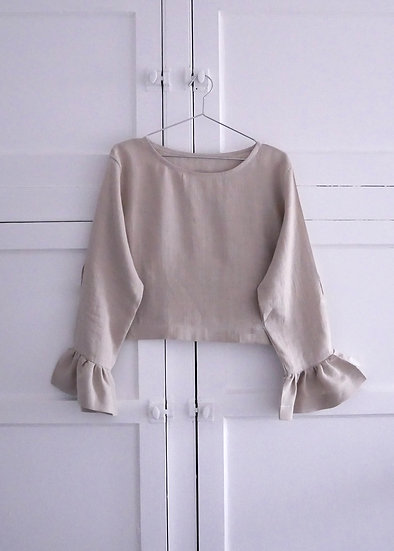 The Flutter Blouse - Fawn