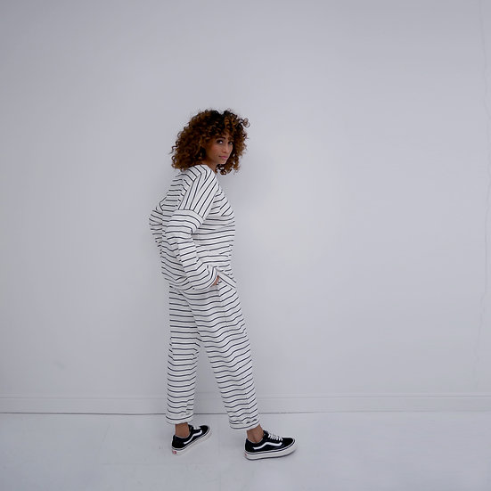 The Sweatpants - Natural & Black (Ready to Dispatch)