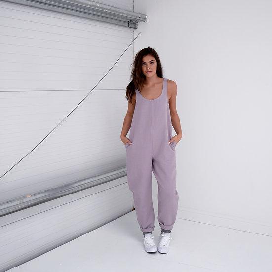 Cocoon Jumpsuit- Parma Violet (Ready to Dispatch)