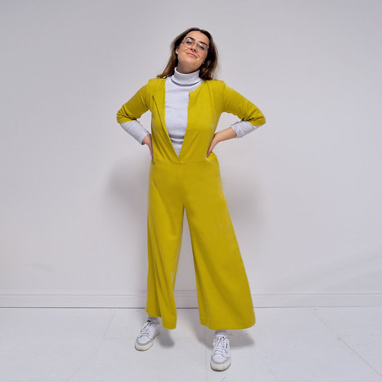Wide Leg Overalls - Dandelion (Ready to Dispatch)