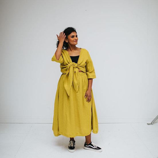 The Midi Skirt - Limoncello (Ready to Dispatch)