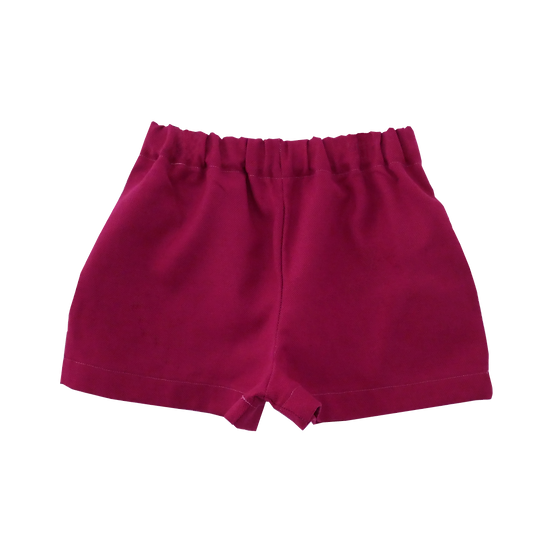 The Cocoon Shorts - Cranberry (Ready to Dispatch)