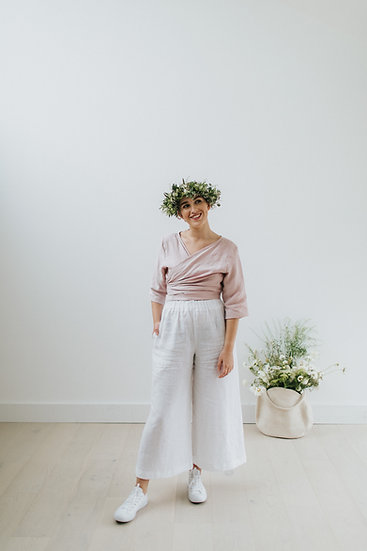 The Wide Trousers - White
