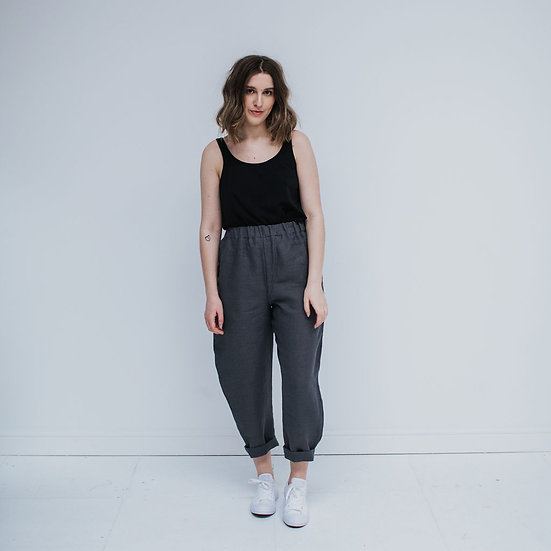 The Cocoon Trousers - Flint (Ready to dispatch)