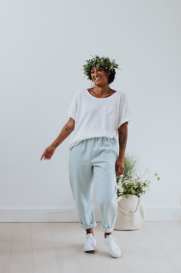 The Cocoon Trousers - Mermaid