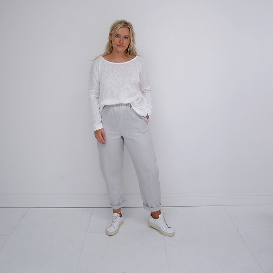 The Cocoon Trousers - Silver (Ready to Dispatch)