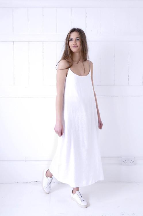 10ad18fe65 Linen Slip Dress - White