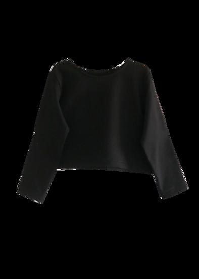 The Cropped Sweatshirt - Black