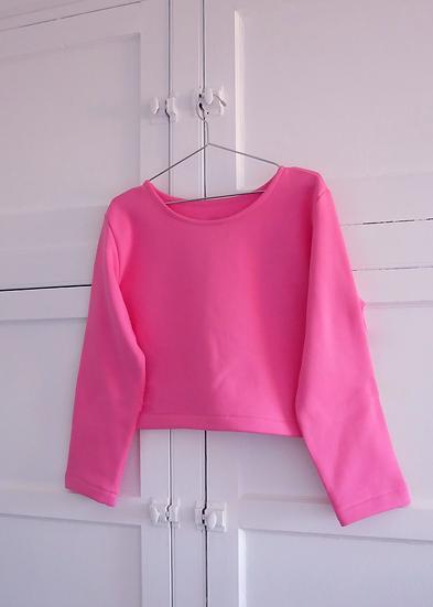 The Cropped Sweatshirt - Bubblegum