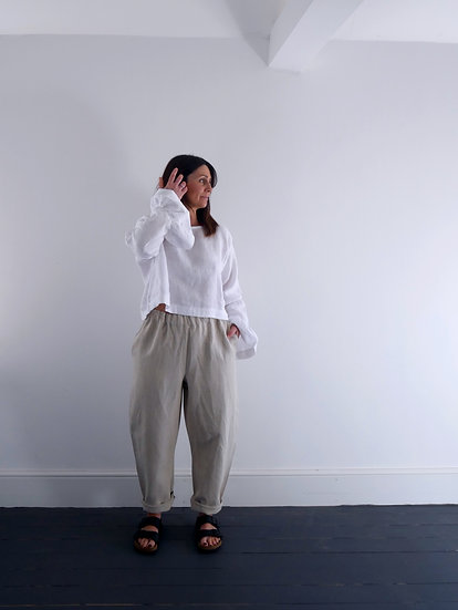 The Cocoon Trousers - Sandy