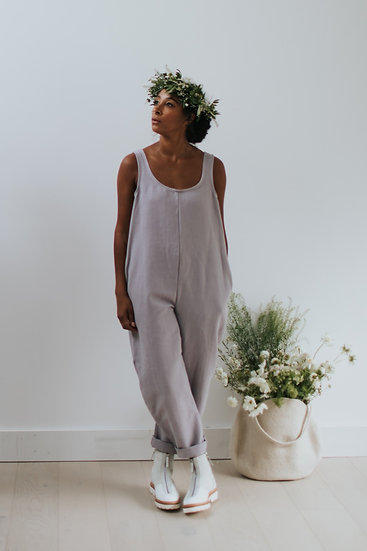 The Cocoon Jumpsuit - Parma Violet (Ready to Dispatch)