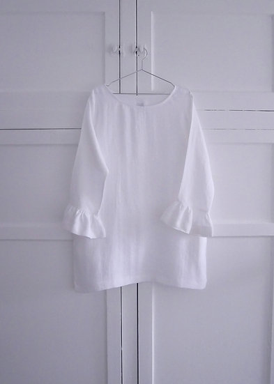 The Flutter Dress - White (Ready to Dispatch)