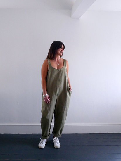 The Cocoon Jumpsuit - Crocodile