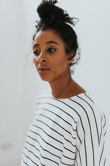 PRE ORDER The Sweatshirt - Natural Stripe