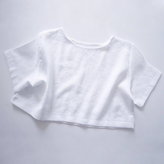 The Cropped Blouse - White
