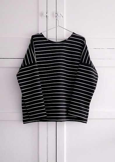 The Sweatshirt - Black Stripe