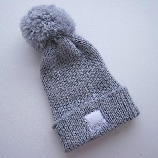 Wool Bobble Hat - Lunar