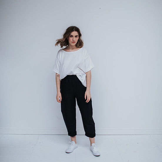 The Cocoon Trousers - Black (Ready to Dispatch)