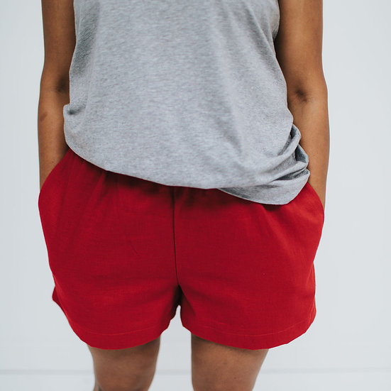 The Cocoon Shorts - Chilli Pepper (Ready to Dispatch)