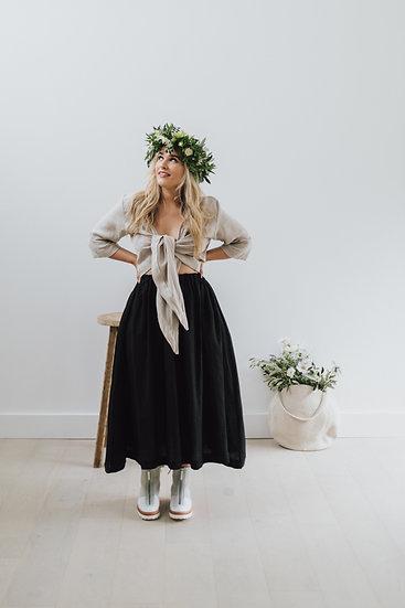 The Midi Skirt - Black