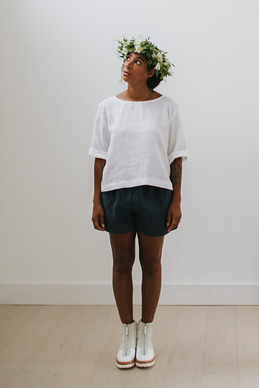 The Cocoon Shorts - Blueberry (Ready to Dispatch)