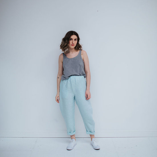 The Cocoon Trousers - Mermaid (Ready to Dispatch)