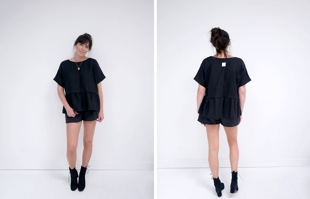 Stalf Cocoon Shorts in Black.